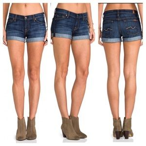 7 for all Mankind - rolled cuff short shorts